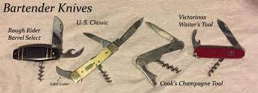 Bartender knife and tools